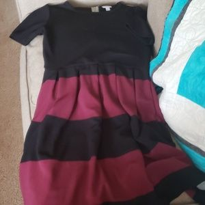 Black and Maroon LLR dress